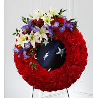 The FTD® To Honor One`s Country™ Wreath, USA