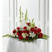The FTD® Crimson & White™ Arrangement, USA