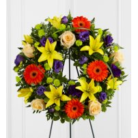 The FTD® Radiant Remembrance™ Wreath, USA