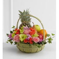 The FTD® Rest in Peace™ Fruit & Flowers Basket, USA