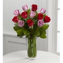El FTD ® Red y Lavender Rose Bouquet, USA
