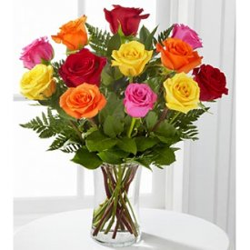 Simply Cheerful Mixed Rose - Elizabeth