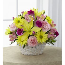 The FTD® Basket of Cheer - Flowers to  Davenport